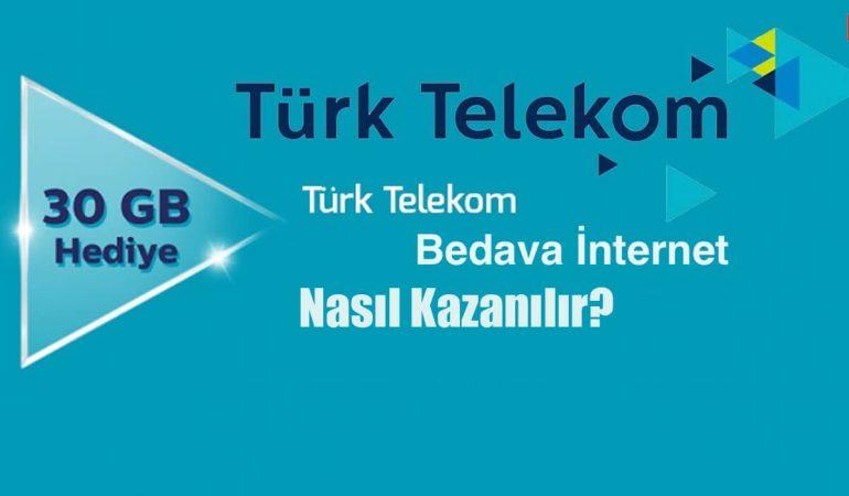 Türk Telekom Bedava İnternet Nasıl Kazanılır?